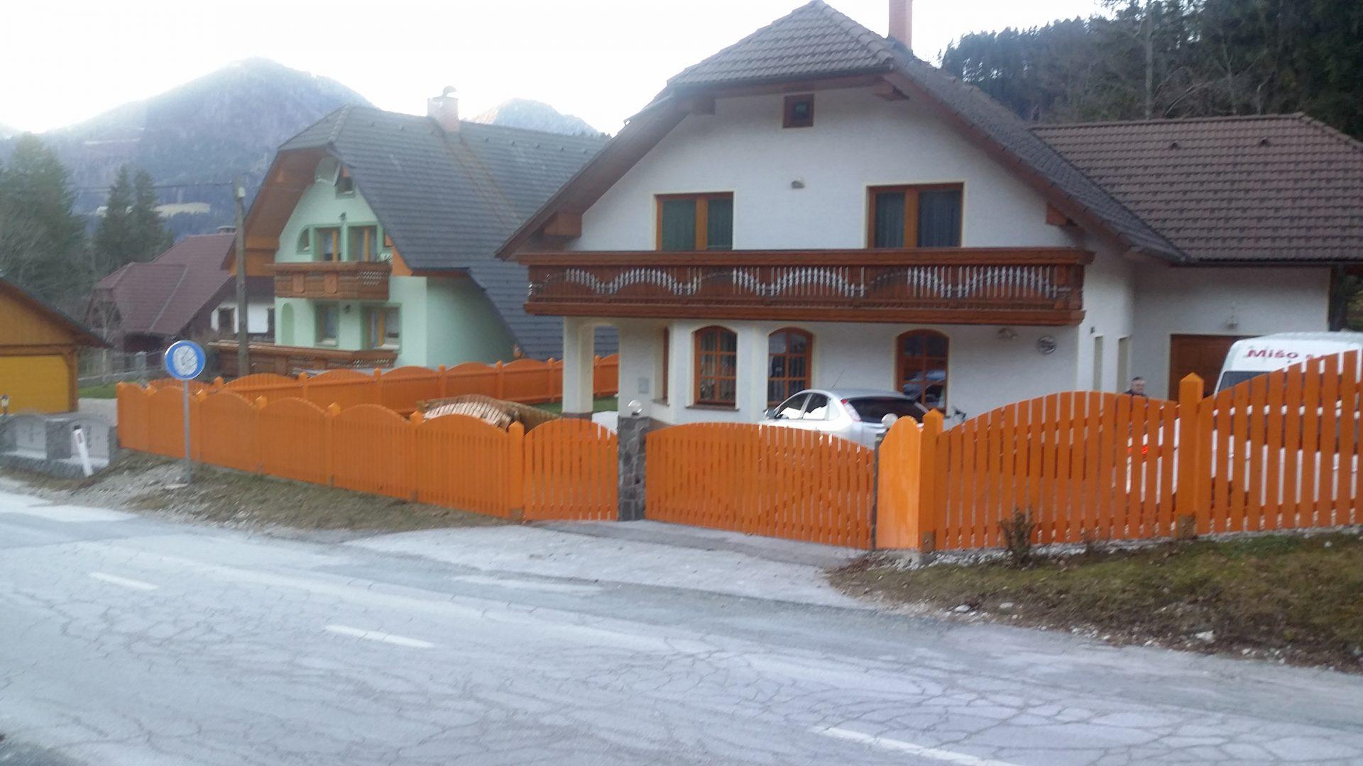 Lesene ograje za zunaj ali notranjost 4