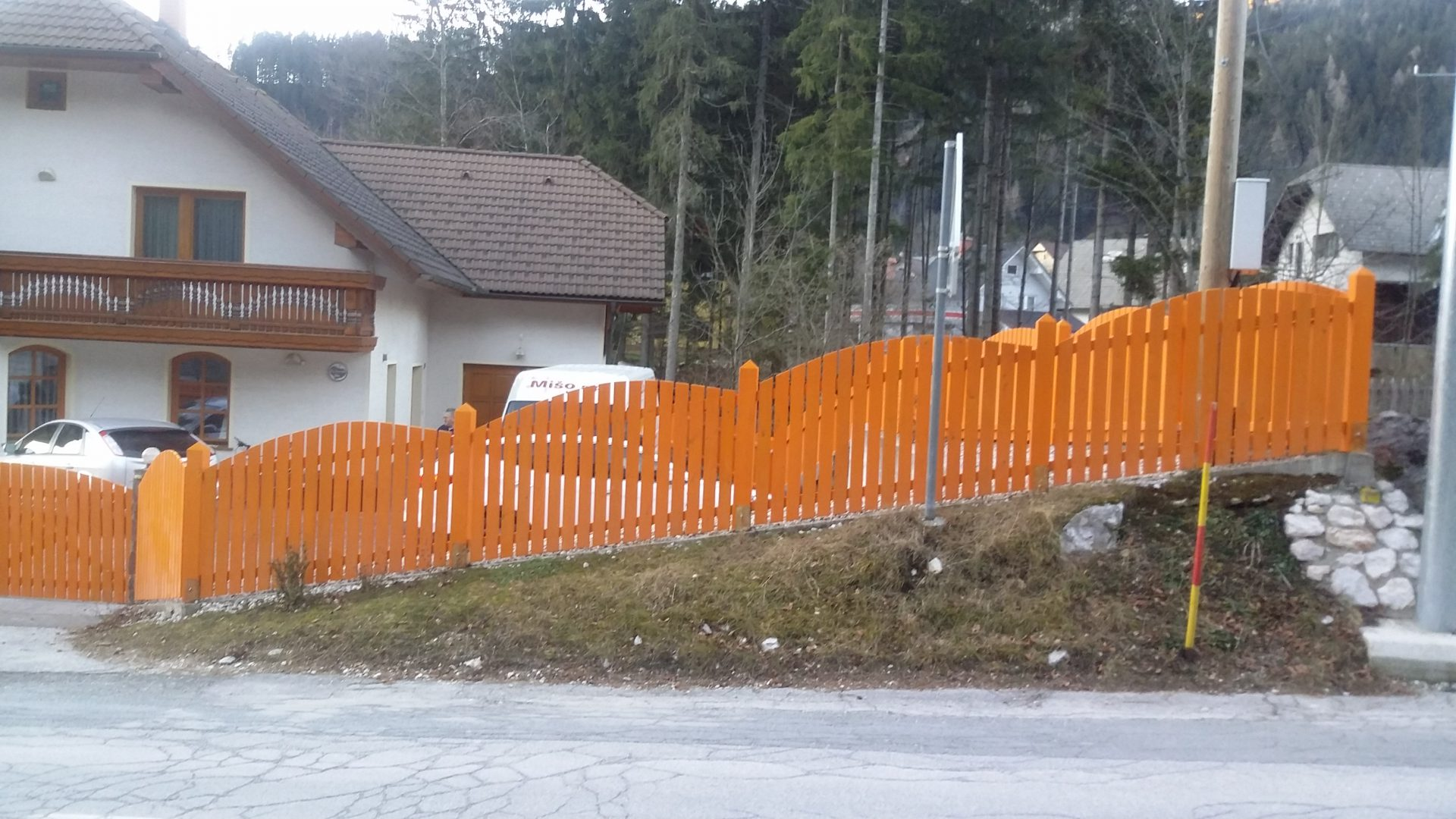 Lesene ograje za zunaj ali notranjost 5