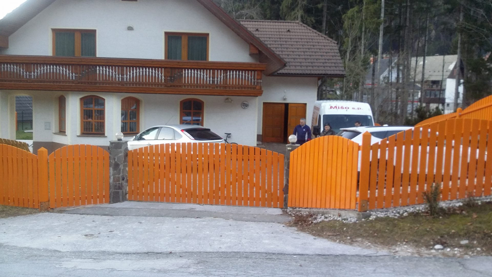 Lesene ograje za zunaj ali notranjost 6