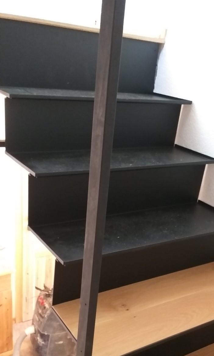 Izdelava kovinskih stopnic iz kovinskih profilov - detajl