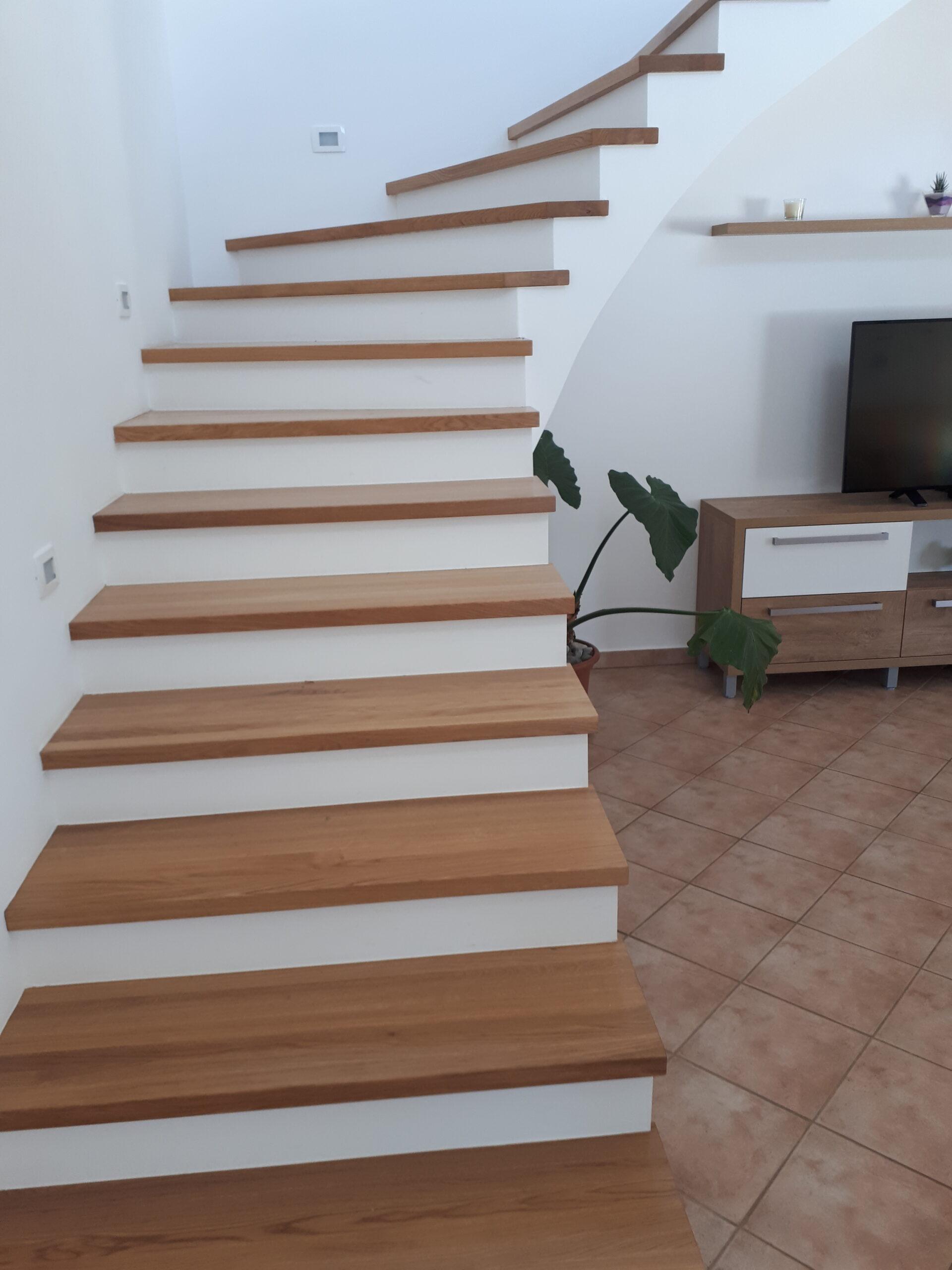 Izdelava notranjih stopnic 2